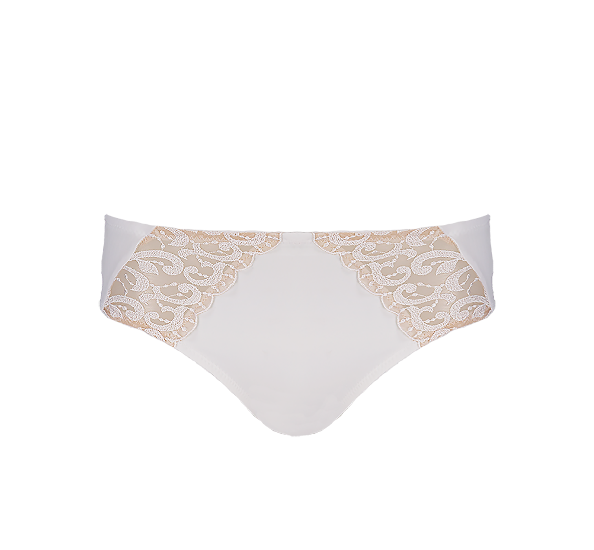 Midi Brief Embroidery White
