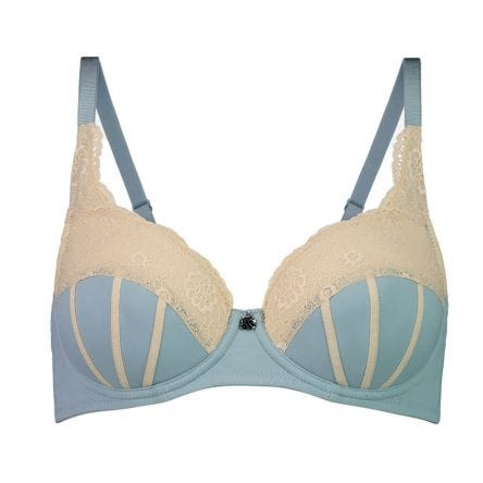 Underwire Ribbons Bra - Enhanced Support - Rococco