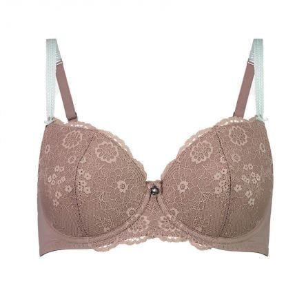 Full Lace Cup Peony Bra - Lite Support - Starlight
