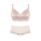 Maternity Bra Almond & Blush Boyleg Short Set