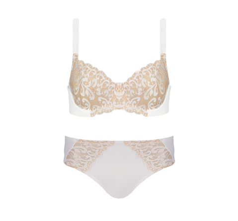 Enhanced Support Embroidery White Set