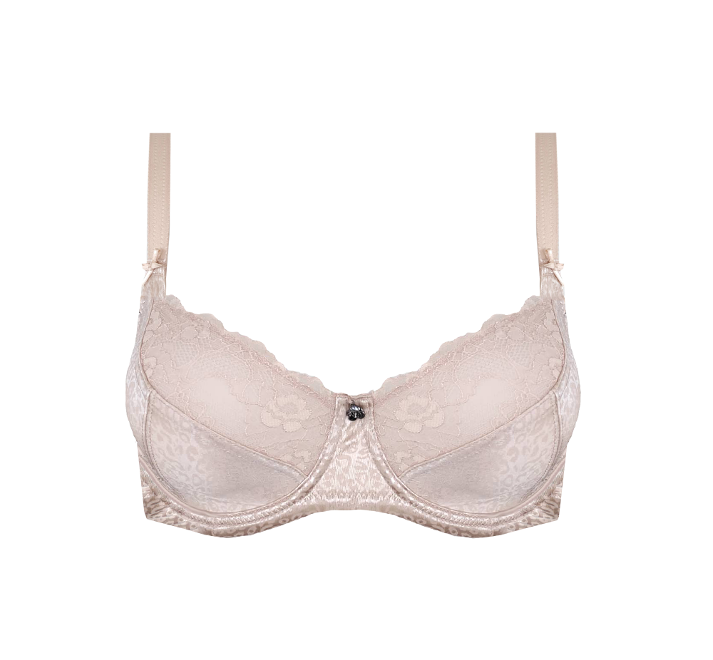 Enhanced Support Leopard Print Bra Cafe Latte